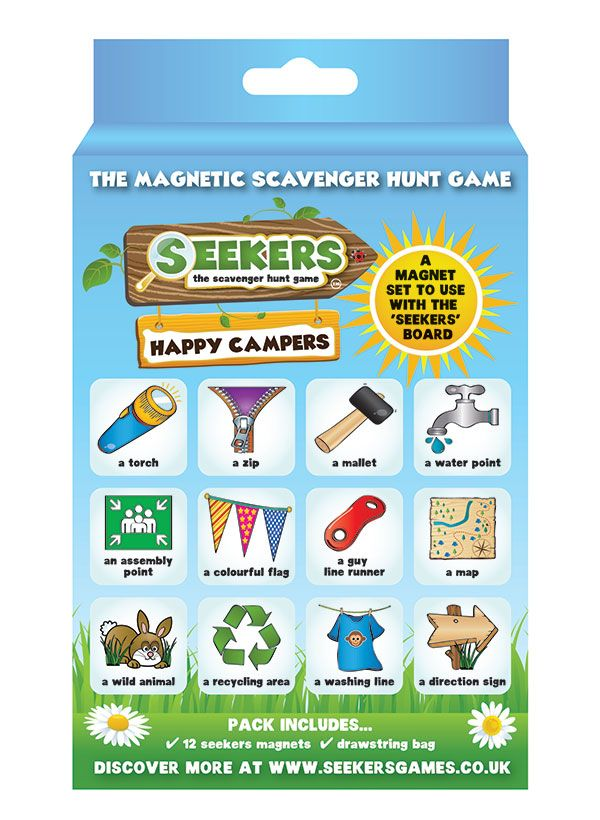 Seekers Happy Camper Scavenger Hunt Game Add On Set