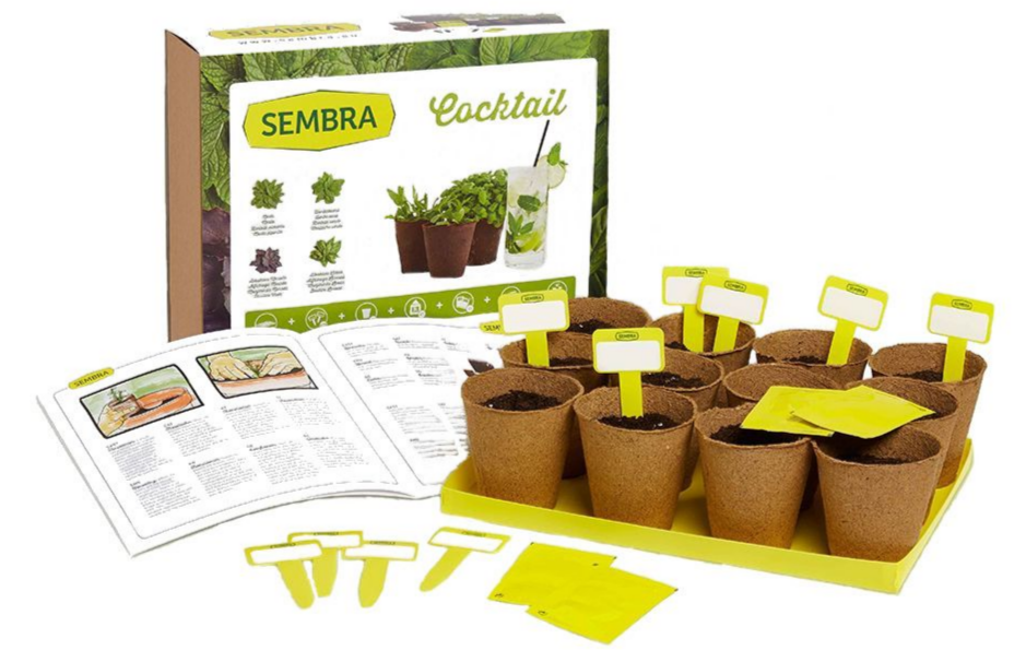 SEMBRA Cocktail Herb Gardening Kit